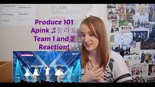 Produce 101 Apink ♬몰라요 Team 1 and 2 Reaction!
