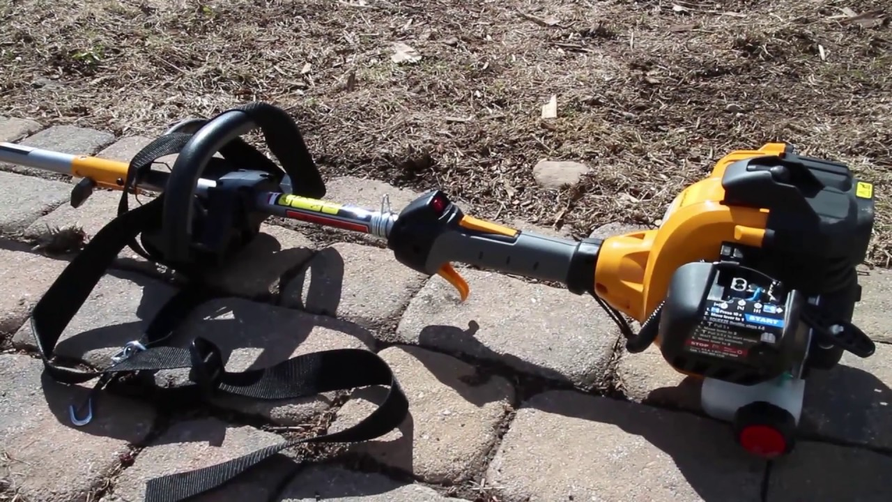 hight resolution of brushcutting with cub cadet bc280