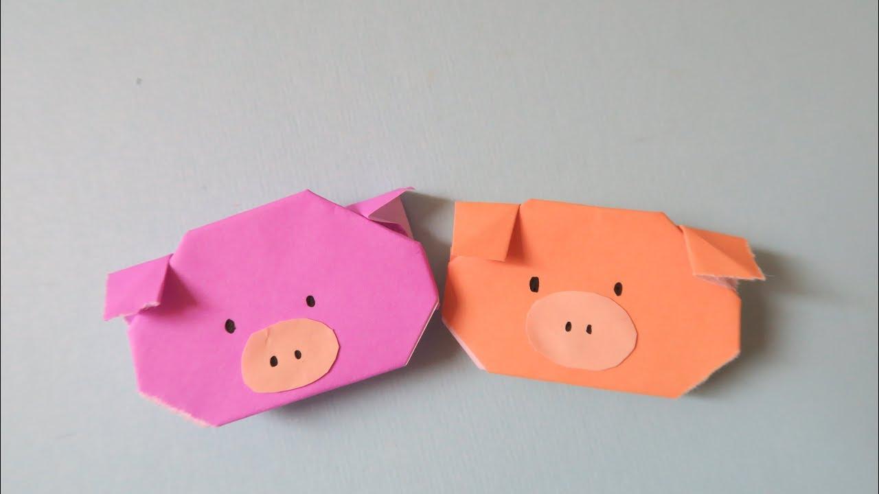 Easy Origami Pig 簡易摺紙- 豬 - YouTube - photo#4