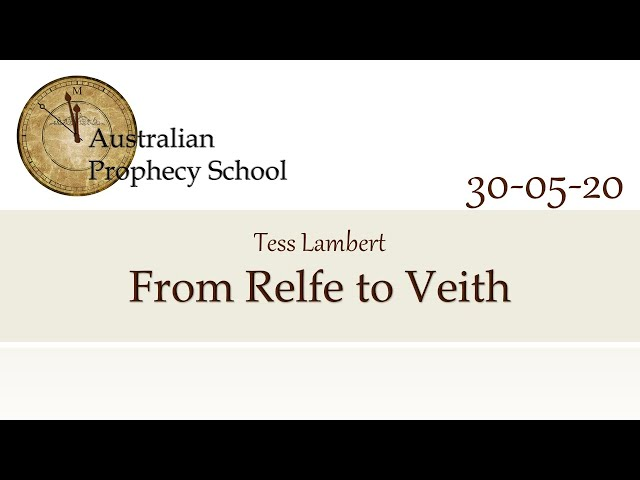 From Relfe to Veith; Tess Lambert - 30.05.2020