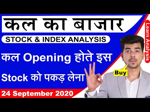 Best Intraday Trading Stocks for 24-September-2020 | Stock Analysis | Nifty Analysis | Share Market