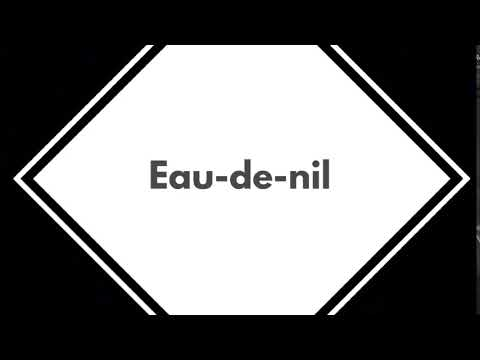Jasmine talk- How to pronounce the word eau-de-nil