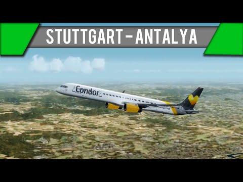 [P3D] Stuttgart - Antalya | B753 | CFG832 | Geile Wolken! [IVAO] [GER]