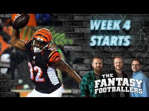Fantasy Football 2016 - Starts of the Week, Week 4 Matchups, Debate - Ep. #275