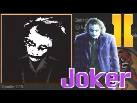 Black Ops 2 - Joker Emblem Tutorial (The Dark Knight - Heath Ledger)