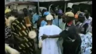 Ogun Festival Ile-oluji Ondo State,Nigeria.High Chief dancing to the Kings palace.