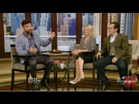 Live with Kelly (Feb 15, 2017) Ricky Martin, Christine Baranski & co-host John Leguizamo Interview