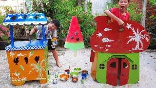 Trò Chơi Bé Pin Học Sơn Màu Nhà ❤ ChiChi ToysReview TV ❤ Đồ Chơi Trẻ Em Baby Doli Fun Song