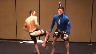 Anthony Pettis Kicks His Brothers Balls | Vine Prank