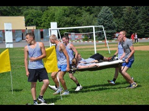Военно спортивная игра на местности в лагере