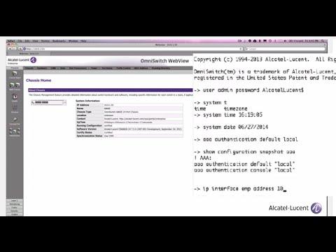 OS6860E-24 First Time Configuration