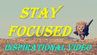 STAY FOCUSED | Best Motivational Video | Inspirational Video