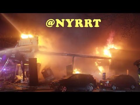 FDNY: 12/13/18 Queens: 5 Alarm Fire 45-02 Queens Blvd.