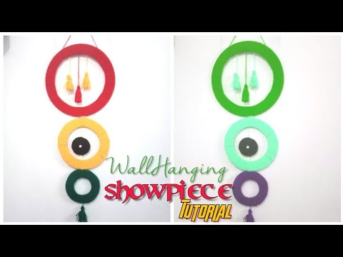 Diy Wall Hanging Showpiece from Scratch   Tutorial Video   Craft India   Holi