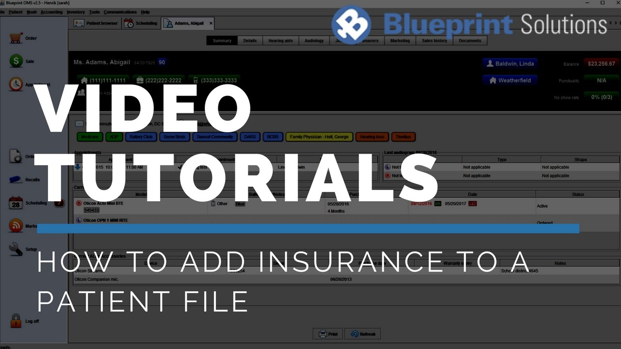 How to add insurance to a patient file youtube how to add insurance to a patient file blueprint solutions malvernweather Gallery