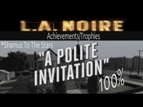 LA Noire Walkthrough 'Polite Invitation' (No Spoilers) Guide 100%