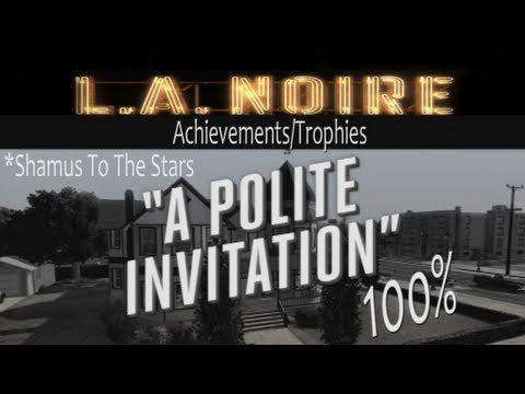 LA Noire Walkthrough 'Polite Invitation' (No Spoilers) Guide 100%