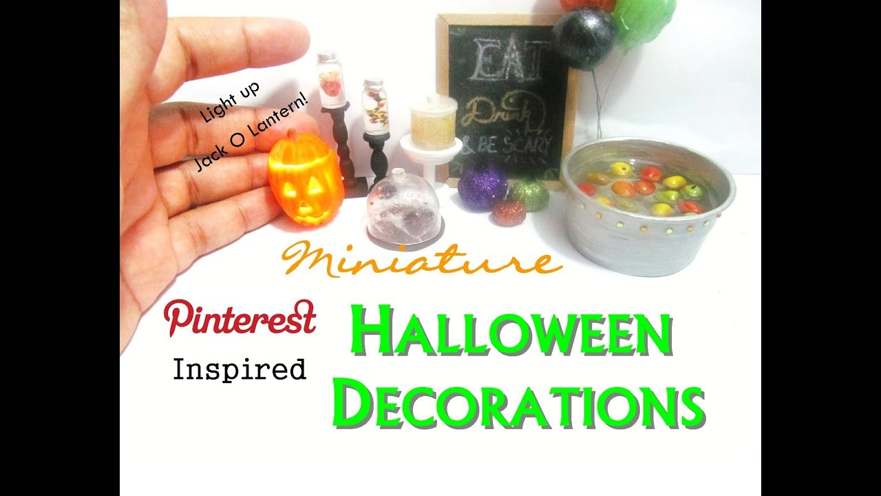 pinterest inspired halloween decorations polymer clay dollhouse miniature light up jack o lantern
