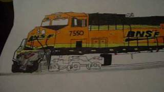 Awesome BNSF drawings i did that took me 4 days