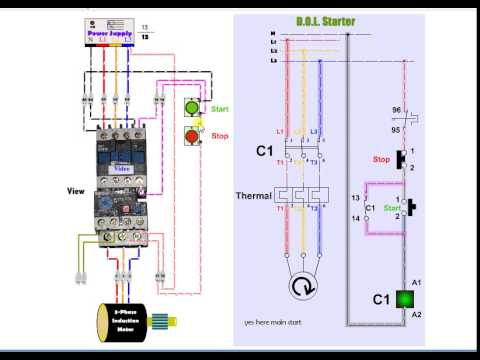 Nice dol starter connection gallery schematic diagram series dol starter motor motorwallpapers asfbconference2016 Gallery
