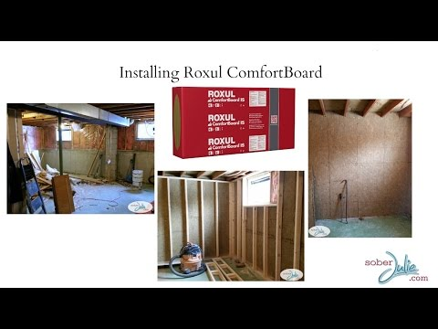 How to Install Roxul ComfortBoard Insulation to insulate a basement