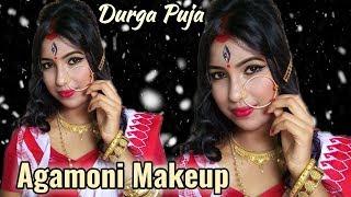 Durga Puja Agamoni Makeup Look 2018 Mahalaya Special || Dance And Care