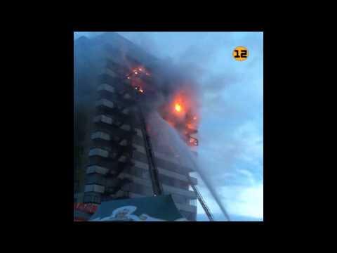 Пожар Йошкар-Ола на Машиностроителей 2Б