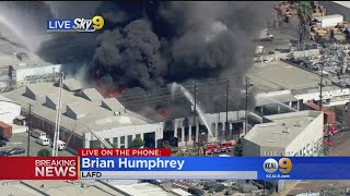 Commercial Building On Fire In Boyle Heights