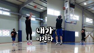 농구 선수와 농구 유튜버가 슛대결을 하면!? (하이라이트)