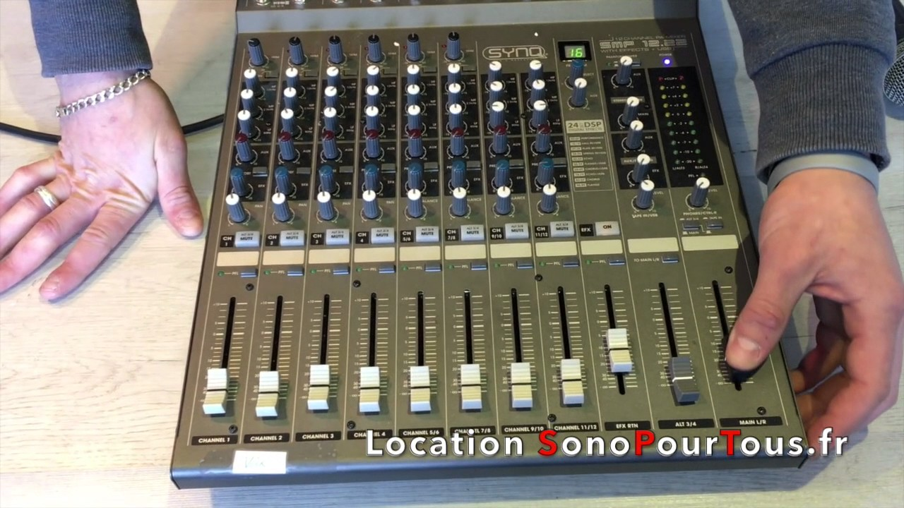 Location Table Mixage Location Console 12 Voies Behringer Xenyx X1222 Usb