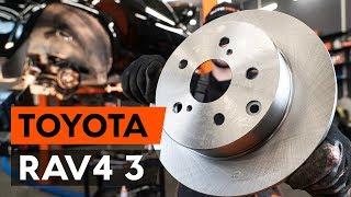 Kā un kad mainīt priekšā un aizmugurē Bremžu diski TOYOTA RAV 4 III (ACA3_, ACE_, ALA3_, GSA3_, ZSA3_): video pamācības