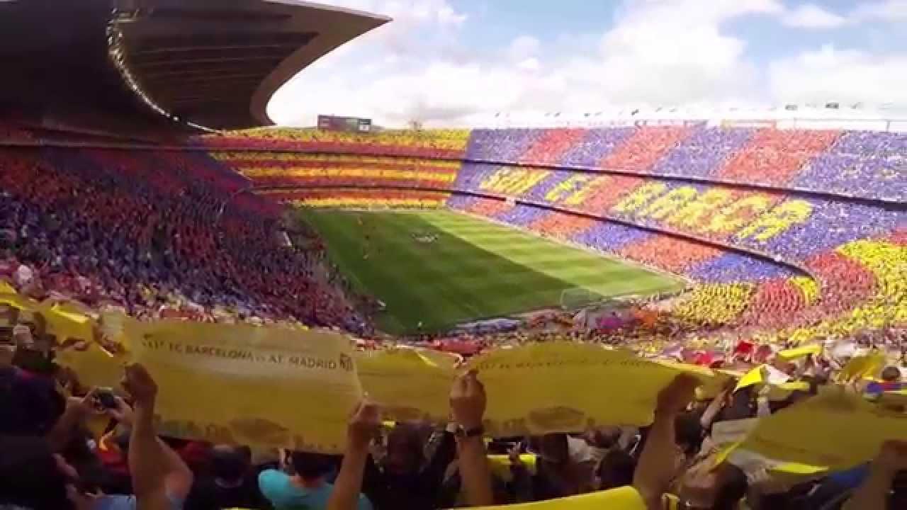 Download Camp Nou Mosaic FC Barcelona vs Atletico Madrid HD