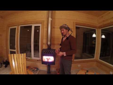 видео: Камин termofor inox в каркасном/СИП доме