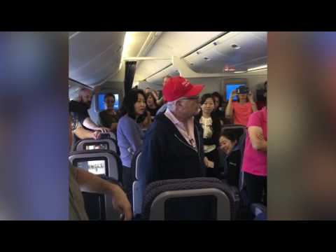 Trump supporter removed from United flight in China