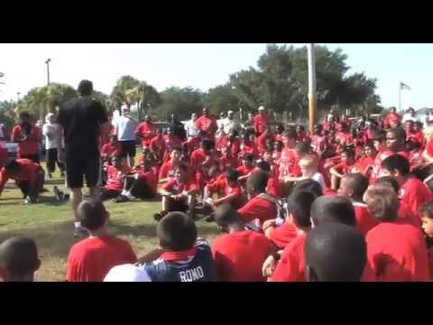 Edgerrin james Football Camp 2009