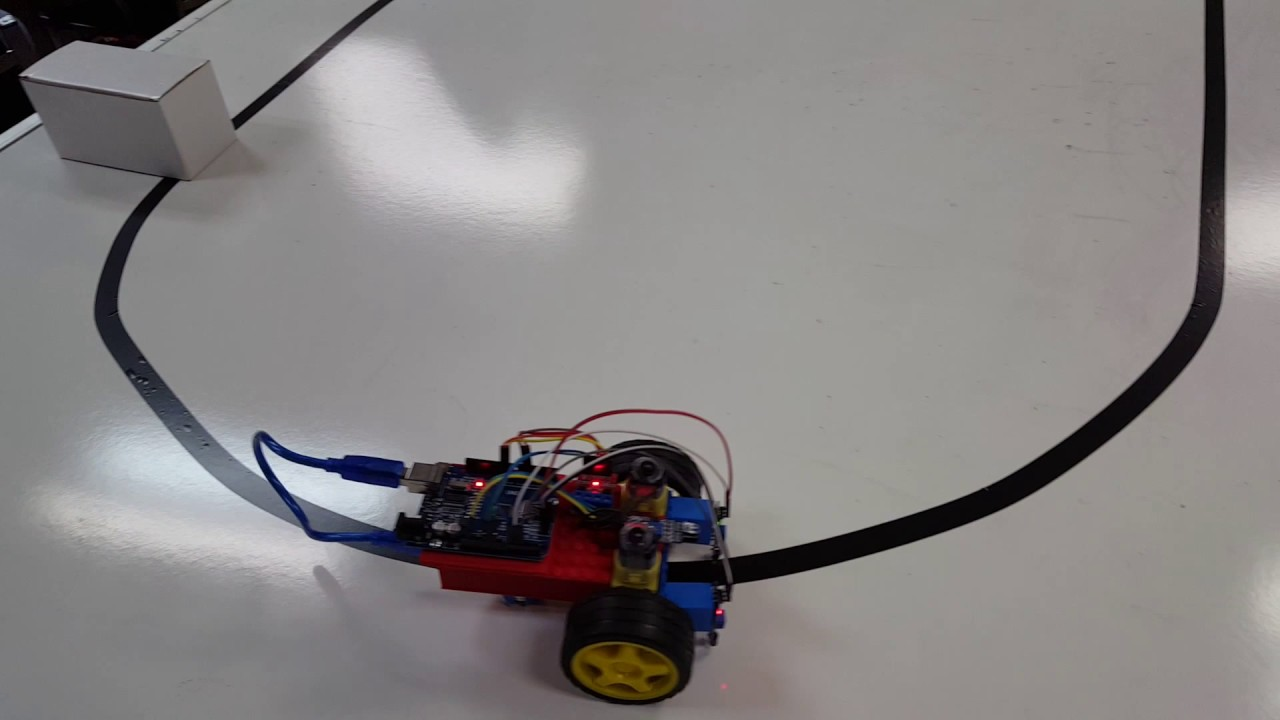 Line following robot w obstacle avoidance youtube