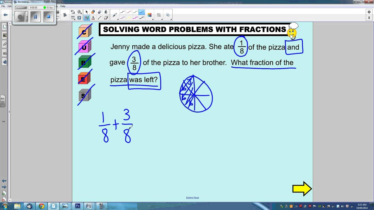 Solving Multi-Step Fraction Word Problems 1 - YouTube