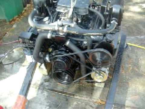 57 Small Block Chevy 350 Rebuilt Marine Engine Test  YouTube