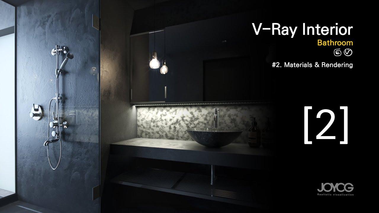 [v-ray & 3dsmax] Bathroom modeling 2/2 (full)