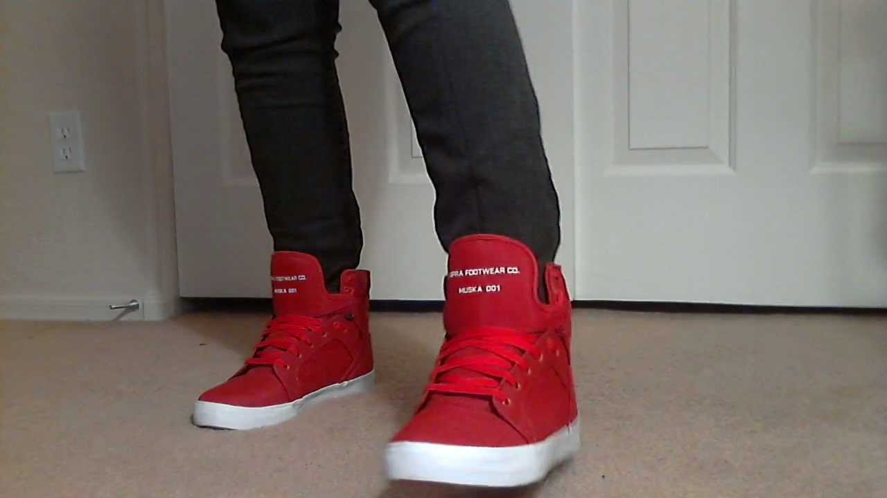 Justin Bieber All Red Shoes
