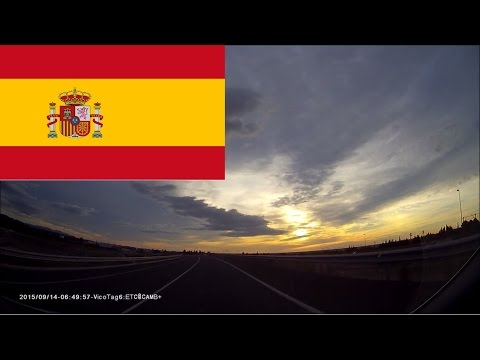 Driving in Spain - Sunrise, A-7 Autovia del Mediterráneo & N-340 Highway