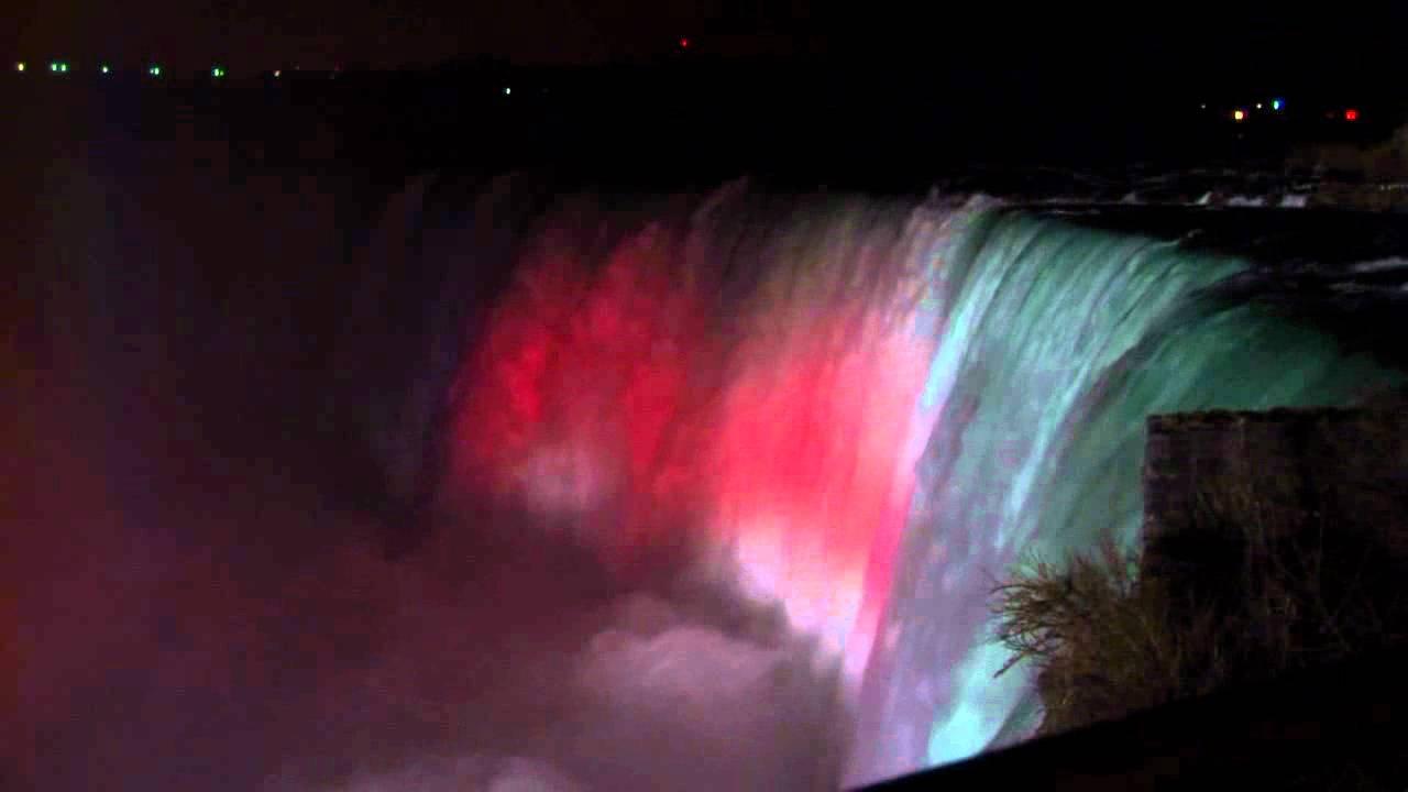 Niagara Falls At Night Wallpaper Niagara Falls At Night Youtube