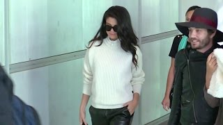 EXCLUSIVE: Very stylish Selena Gomez at the airport leaving Paris