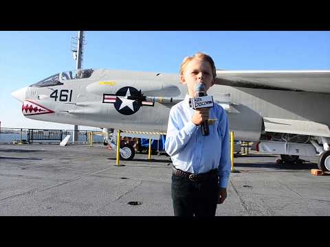 Coe Lewis - 9 Year Old Reporter From the USS Midway on 9-11