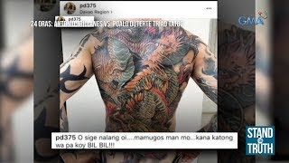 Stand for Truth: Paolo Duterte, may 'Triad Tattoo' nga ba?
