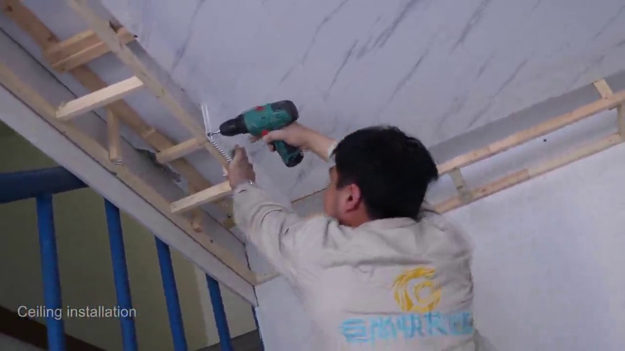 Pvc Ceiling Panel Installation Youtube