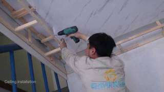 Pvc Ceiling panel Installation