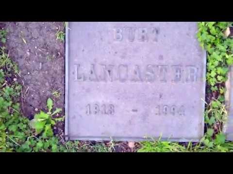 Burt Lancaster grave marker - Drone flight - GraveTour.com - Take a famous grave tour!