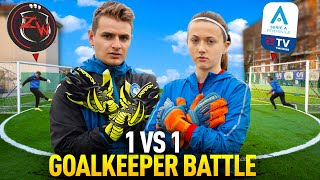 ⚔️ 🧤 1 VS 1 GOALKEEPER BATTLE! ZW VS SARA! (Sfido un Portiere FEMMINILE)