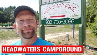 Headwaters Camping and Caḃins in Frederic, Michigan - Let's go camp it!